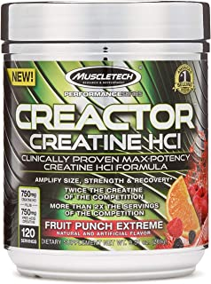 Creatine Powder - Mass Gainer | MuscleTech Creactor | Max-Potency Muscle Builder Creative HCl Formula | Creatine HCl Powde...