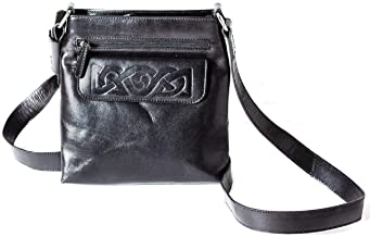 Biddy Murphy Gifts for Irish Women Irish Hand Bag Crossbody Leather Embossed Celtic Weave Made in Ireland