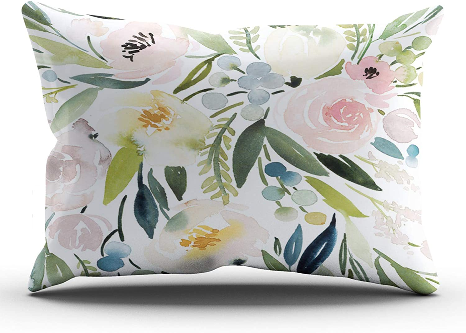 ONGING Decorative Pillowcases Colorful Floral Cheap bargain Customi Fixed price for sale Watercolor