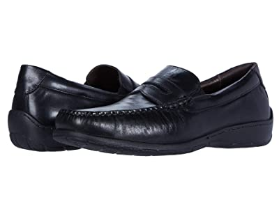 Johnston & Murphy Crawford Penny (Black Full Grain) Men