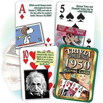 Inc Flickback Media Great Birthday 1953 Trivia Playing Cards