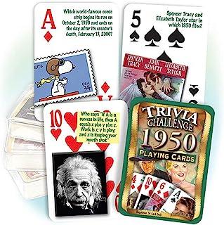 Flickback 1950 Trivia Playing Cards, 70th Birthday Gift