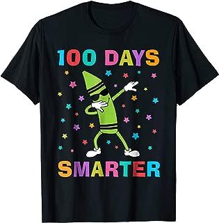 100 Days Smarter 100th Day of School Dabbing Crayon T-Shirt