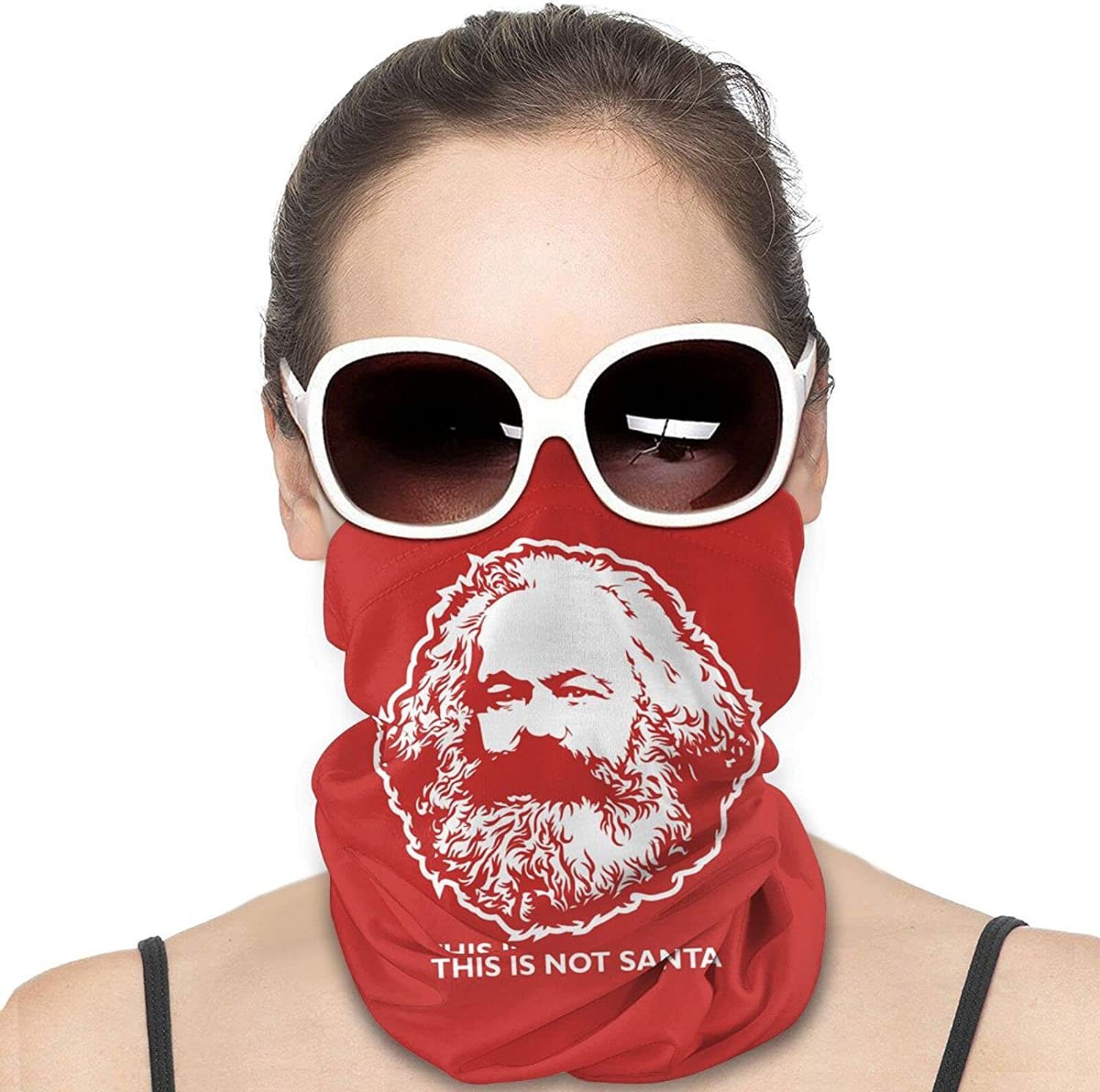 This Is Not Santa Round Neck Gaiter Bandnas Face Cover Uv Protection Prevent bask in Ice Scarf Headbands Perfect for Motorcycle Cycling Running Festival Raves Outdoors