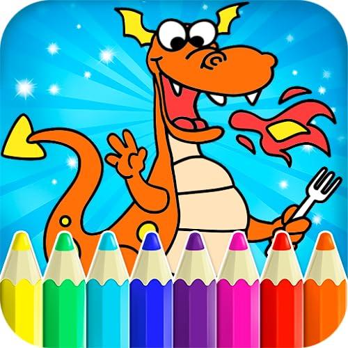 Zeichnung für Kinder - Drache