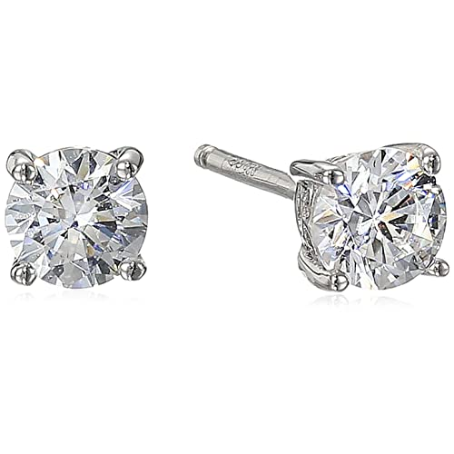 65971af66 Plated Sterling Silver Round-Cut Stud Earrings made with Swarovski Zirconia