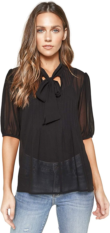 Sugar Lips NEW Tucson Mall womens Lanae Tie Neck Blouse