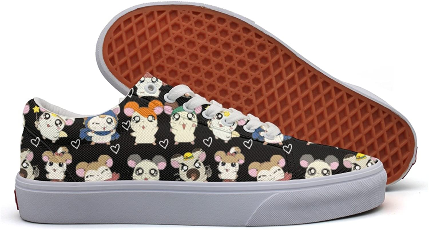 Kawaii Hamster Women's Casual Sneakers Flat Cool Nursing Designer