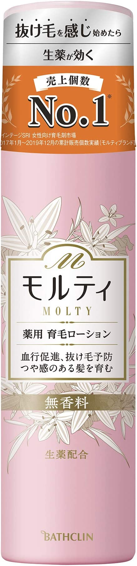 【医薬部外品】モルティ 女性用育毛剤 薬用育毛ローション180g 女性向け