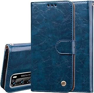 Nadoli PU-läderfodral till Huawei P40, retro elegant affärsstil ädelt flip plånbok läderfodral stötsäkert skyddande fodral...