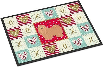 Caroline's Treasures Lhasa Apso #1 Love Indoor or Outdoor Mat 18x27 doormats, Multicolor