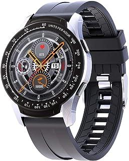 Gymqian Smart Watch Sport Smart Watch Monitor de Ritmo Cardíaco Monitor de Muñeca Fitness Pedómetro Rastreador Impermeable Reloj con Presión Arterial-Negro El mejor regalo/Silver