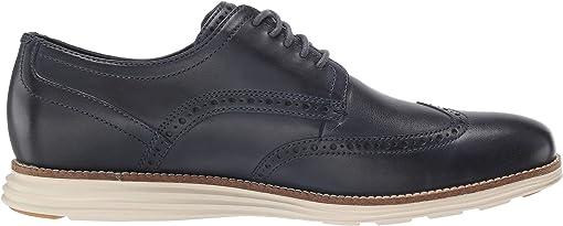 Navy Leather/Ivory