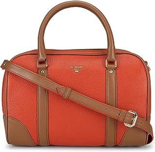 Da Milano LB-4422AWAXPLN Leather Satchel Bag