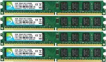 DUOMEIQI 8GB Kit (4 X 2GB) 2RX8 DDR2 667MHz DIMM PC2-5300 PC2-5400 PC2-5300U CL5 1.8v 240 Pin 5300U Non-ECC Unbuffered Desktop Memory RAM Module Compatible with Intel AMD System