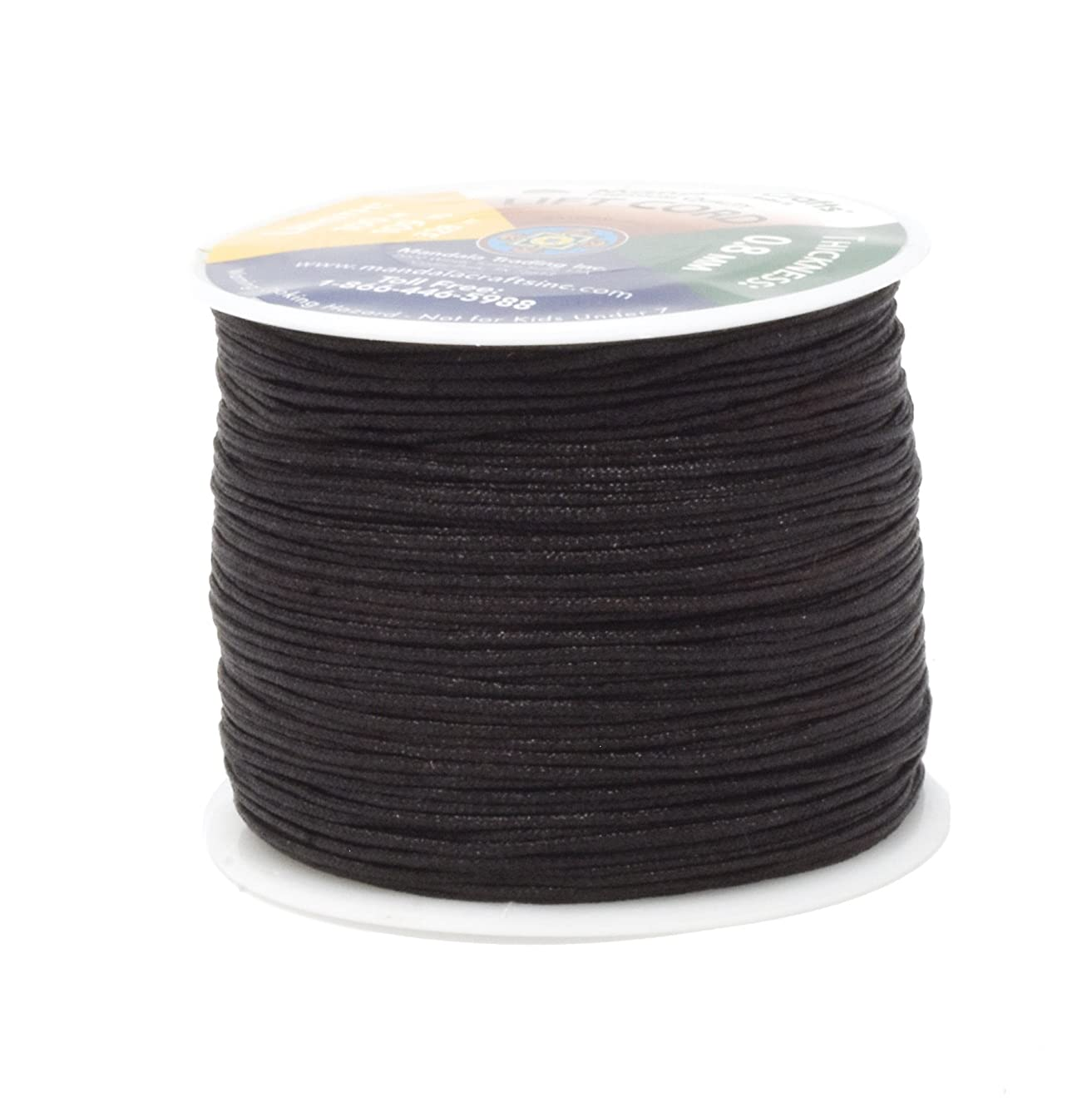 Mandala Crafts Blinds String, Lift Cord Replacement from Braided Nylon for RVs, Windows, Shades, and Rollers (0.8mm, Chocolate Brown)