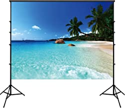 5×7ft Photo Backdrop Beach Scenery Photography Backdrop Photography Studio Background Prop Digital Printed Photography Prop Video Photo Booth for Party Wedding Birthday Photo Background