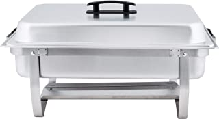 Winco / Empura 8 Qt Stainless Steel Chafer, Full Size Chafer - 2 Pack