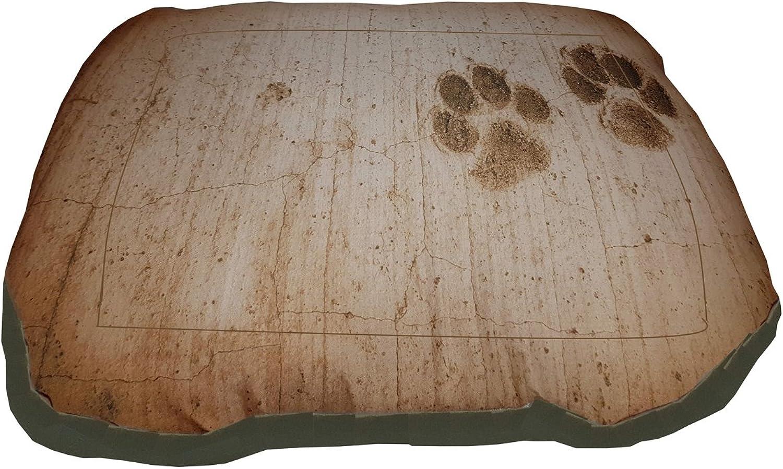 MAT, Dog Kennel Mattress with Paws, a single piece 70x46x12 beije