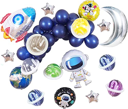 Party Propz Space Theme Birthday Balloons Decoration Combo Kit 33Pcsfor Boys Girls Astronaut Kids Party Supplies,Uniq...