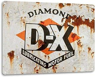 Tamengi Dx Motor Olja Gas Garage Auto Shop Retro Metall Olja Dekor Bränslegas Lube Skylt, 20 cm X 30 cm Konst Dekor