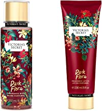 Victoria's Secret Dark Flora Pomegranate and Sugared Woods Fragrance Mist and Lotion Set