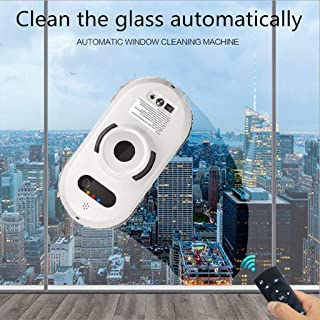 Fullwei Window Cleaner Robot, Gecko Robot Intelligent Remote Control Electric Wiping Machine,Framed Window Robot Magnetic Cleaner for Inside and Outdoor High Floor Window (White)