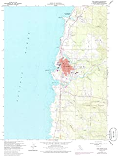 YellowMaps Fort Bragg CA topo map, 1:24000 Scale, 7.5 X 7.5 Minute, Historical, 1960, Updated 1985, 26.7 x 22 in