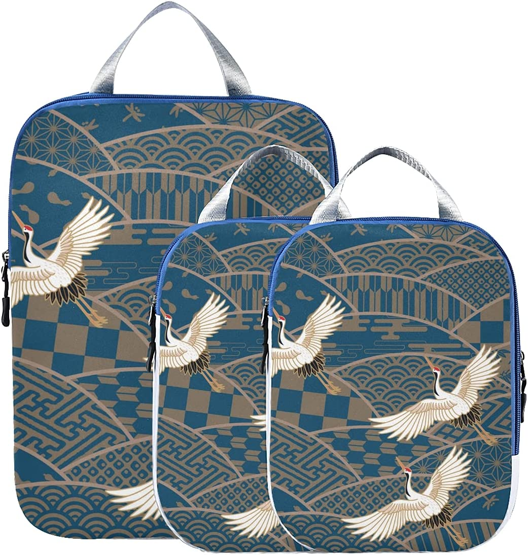 Luggage Bags Ethnic Japanese Crane Shipping included Packing Ranking TOP2 Travel Organizer Cube