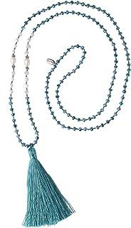 Collar De Perlas con Borlas para Mujer Collar De Cuentas De Cristal Collar con Forma De Y Brillante Collar 2020