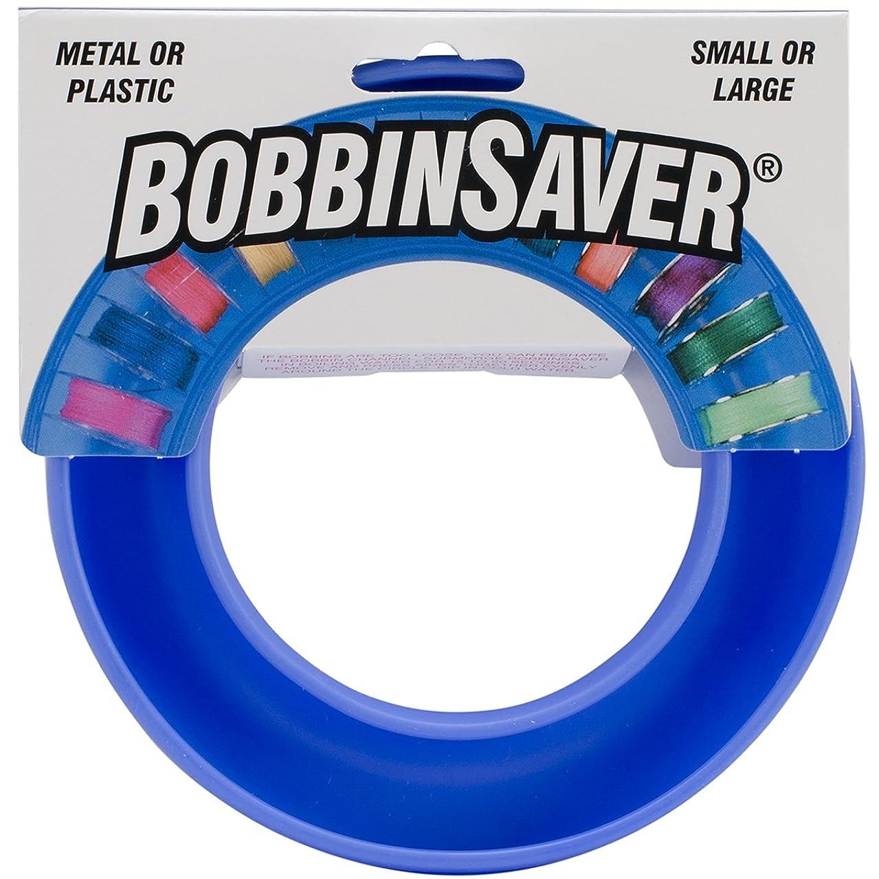 BobbinSaver Sewing Machine Bobbin Organizer - Holds 20+ Bobbins - Blue