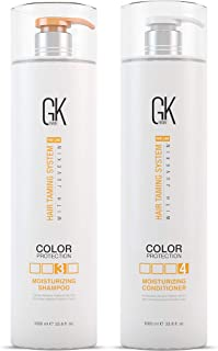 Global Keratin GKhair Moisturizing Shampoo and Conditioner Set (2x1000ml/ 33.8 fl.oz), Sulfate Free - Conditioning and Moisturizing | For Men, Women and Daily Use | For Dry, Damaged, Curly and All Hair Types