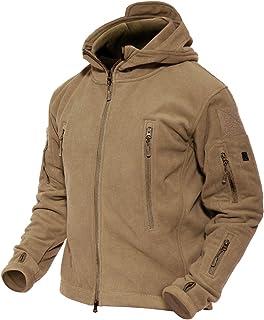 MAGCOMSEN Men 's Windproof Warm Military Tactical Fleece Jacket with Hood