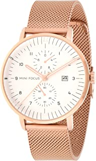 Mini Focus Mens Quartz Watch, Analog Display and Stainless Steel Strap - MF0052G.05