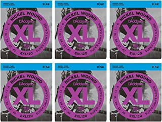 D'Addario EXL120 Nickel Super Light Electric Guitar Strings 6-Pack