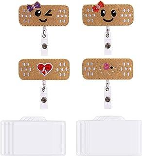 OOTSR Paquet de 4 cartouches d'infirmières rétractables avec 8 porte-badge horizontaux (3,7''x2,4 ''), porte-badge nominat...