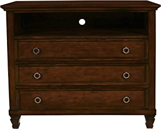 New Classic Furniture Tamarack TV Console, Burnished Cherry
