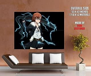 ZV6147 To Aru Kagaku no Railgun ToAru Majutsu no Index Misaka Mikoto Anime Manga Art HUGE GIANT Wall Print POSTER