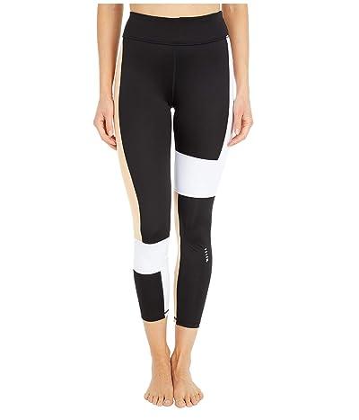 Fila Basia 7/8 Leggings (Black/Almost Apricot/White) Women