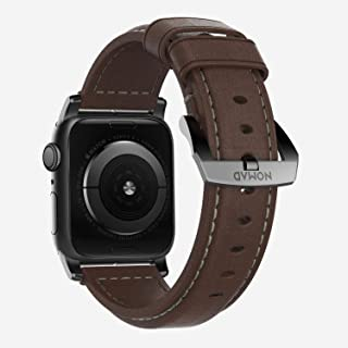 Nomad Strap Traditional Leather Brown Connector Silver 42/44 mm