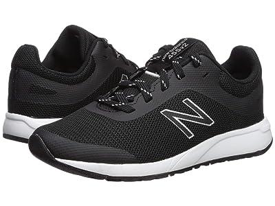 New Balance Kids 455v2 (Little Kid/Big Kid) (Black/White) Boys Shoes