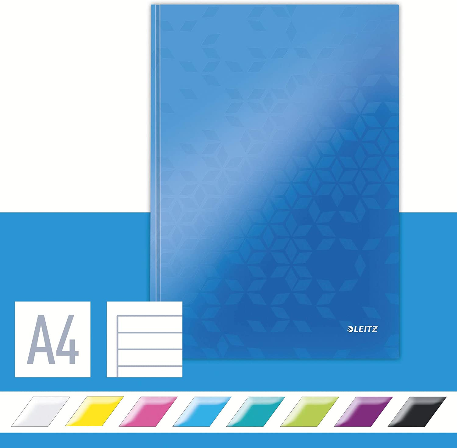 Leitz A4 Hard Super sale Cover Notebook Blue Sheets GSM Detroit Mall 80 Ivo 90 Ruled