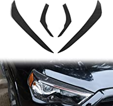 RT-TCZ Front Headlight Eyebrow Decoration Sticker for Toyota 4Runner 2010-2021 UP Car Light Lamp Protector for Toyota 4Runner Exterior Accessories Trim Cover, Soft Carbon Fiber 4 Pcs