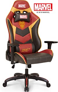 Marvel Avengers Iron Man Big & Wide Heavy Duty 400 lbs Gaming Chair Office Chair Computer Racing Desk Chair Red Gold - Endgame & Infinity War Series, Marvel Legends