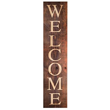 P. Graham Dunn Welcome Distressed Brown 10.5 x 47 Wood Pallet Wall Plaque Sign
