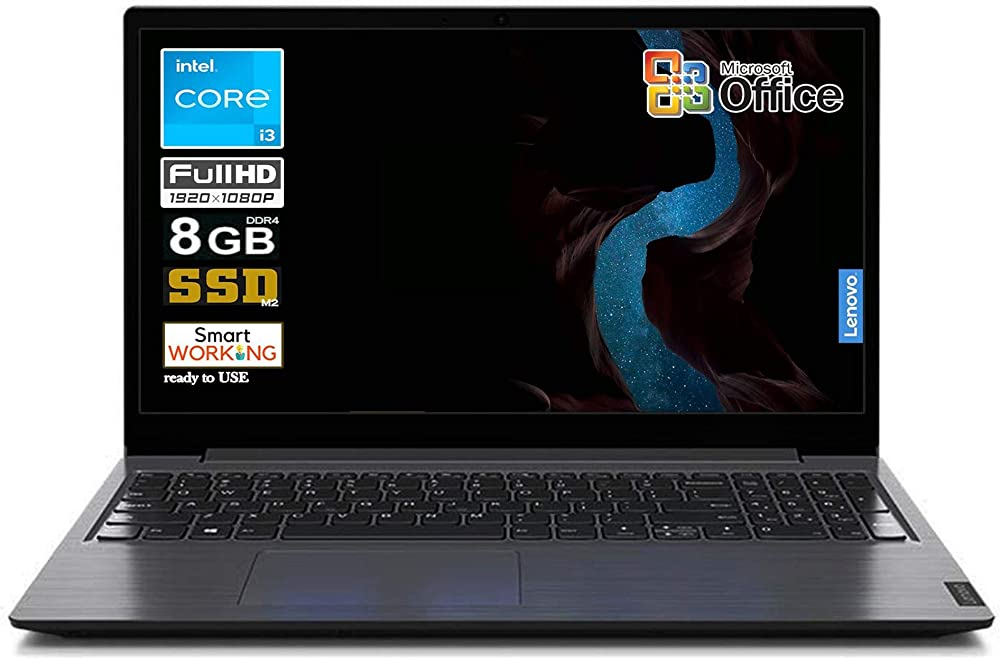 Notebook lenovo ssd cpu intel core i3 display full hd led da 15,6