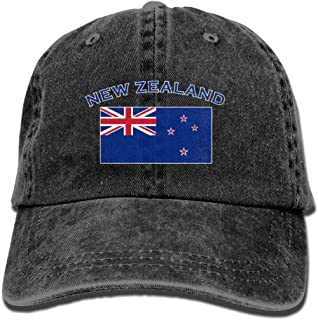 Unisex Baseball Cap Yarn-Dyed Denim Hat New Zealand Flag Adjustable Snapback Hunting Cap
