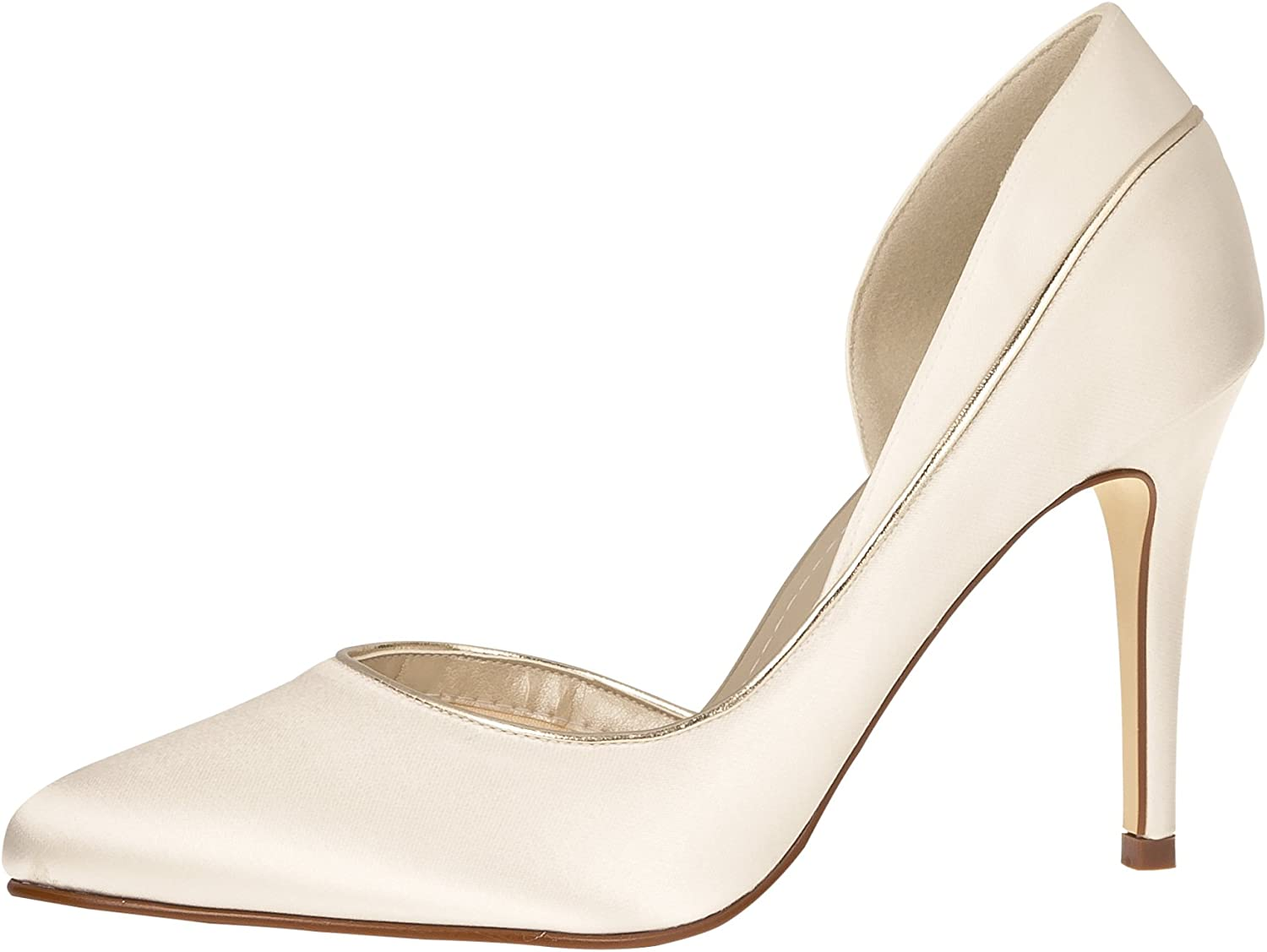 Rainbow Club Brautschuhe Joanne - Pumps Ivory Satin - High Heels Damen