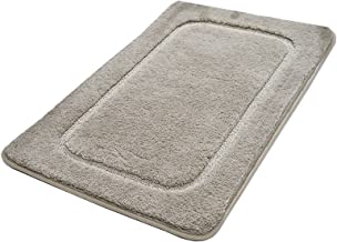 2 Pieces Solid Color Non-Slip Water Absorption Carpet,Bathroom Plush Water Absorption Wear-Resistant Foot Pad,Kitchen/Bedr...