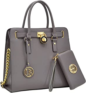MMK collection Women Fashion Matching Satchel/ Tote handbags with walle(6417)t~Designer Purse with Wristlet Wallet